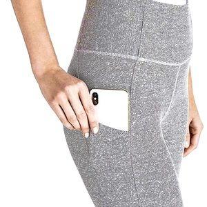 🆕 DANSKIN Grey White Stripe Leggings w/Pocket